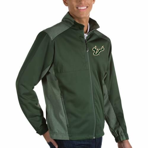 ANTIGUA フロリダ ブルズ 緑 グリーン 【 GREEN ANTIGUA SOUTH FLORIDA BULLS REVOLVE FULLZIP JACKET 】 メンズファッション コート ジャケット
