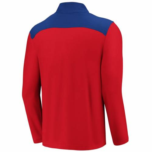 FANATICS BRANDED フィラデルフィア フィリーズ メンズファッション コート ジャケット メンズ 【 Philadelphia Phillies Iconic Clutch Quarter-zip Pullover Jacket - Red/royal 】 Red/royal