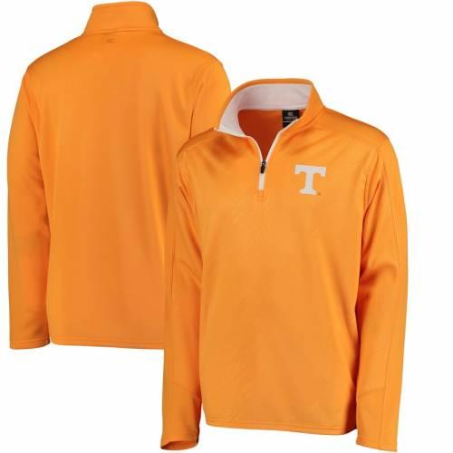 COLOSSEUM テネシー 橙 オレンジ メンズファッション コート ジャケット メンズ 【 Tennessee Volunteers Sleet Embossed Quarter-zip Pullover Jacket - Tennessee Orange 】 Tennessee Orange