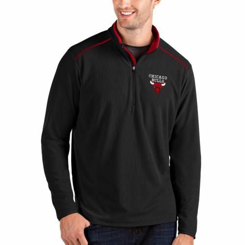 ANTIGUA シカゴ ブルズ メンズファッション コート ジャケット メンズ 【 Chicago Bulls Big And Tall Glacier Quarter-zip Pullover Jacket - Black/red 】 Black