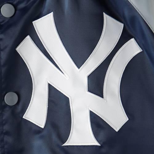スターター STARTER ヤンキース メンズファッション コート ジャケット メンズ 【 New York Yankees The Lead Off Hitter Full-snap Jacket - Navy/gray 】 Navy/gray