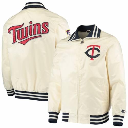 スターター STARTER ミネソタ ツインズ クリーム メンズファッション コート ジャケット メンズ 【 Minnesota Twins The Captain Ii Full-zip Jacket - Cream 】 Cream