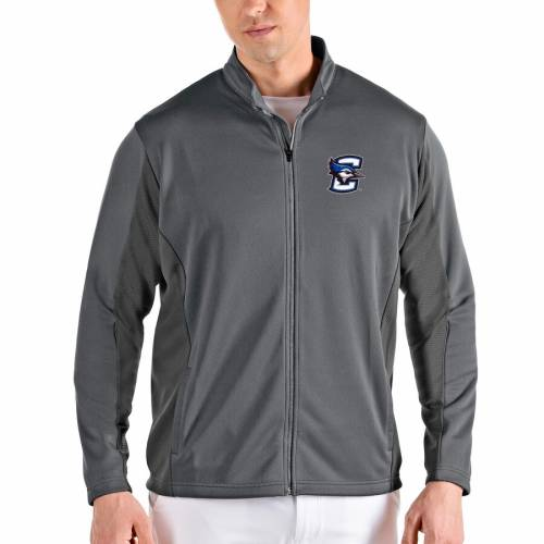 ANTIGUA メンズファッション コート ジャケット メンズ 【 Creighton Bluejays Passage Full-zip Jacket - Gray/charcoal 】 Gray/charcoal