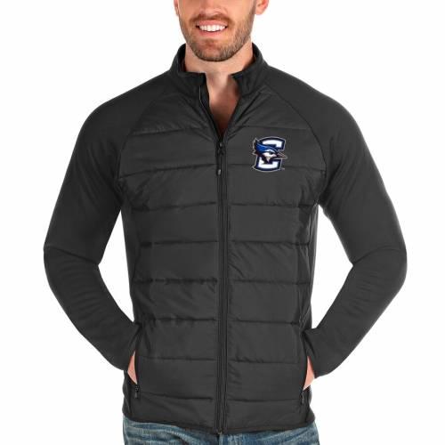 ANTIGUA チャコール メンズファッション コート ジャケット メンズ 【 Creighton Bluejays Altitude Full-zip Jacket - Charcoal 】 Charcoal
