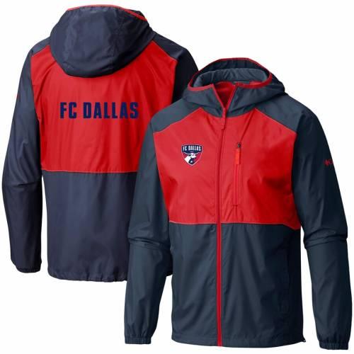 コロンビア COLUMBIA ダラス チーム ロゴ ウィンドブレーカー 青 ブルー メンズファッション コート ジャケット メンズ 【 Fc Dallas Team Logo Flash Forward Full-zip Windbreaker Jacket - Blue 】 Blue