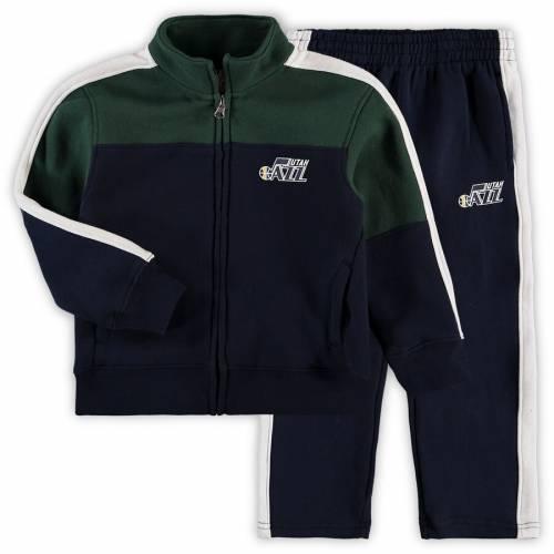 OUTERSTUFF ユタ ジャズ ベビー 赤ちゃん用 リバウンド キッズ マタニティ ジュニア 【 Utah Jazz Toddler Rebound Full-zip Jacket And Sweatpants Set - Navy/green 】 Navy/green