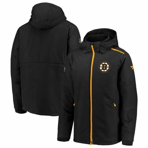 FANATICS BRANDED ボストン オーセンティック プロ メンズファッション コート ジャケット メンズ 【 Boston Bruins Authentic Pro Rinkside Full-zip Parka Jacket - Black/gold 】 Black/gold