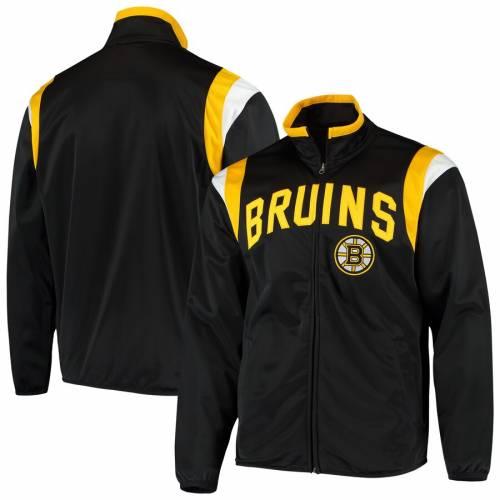 G-III SPORTS BY CARL BANKS ボストン トラック 黒 ブラック メンズファッション コート ジャケット メンズ 【 Boston Bruins Post Up Full-zip Track Jacket - Black 】 Black