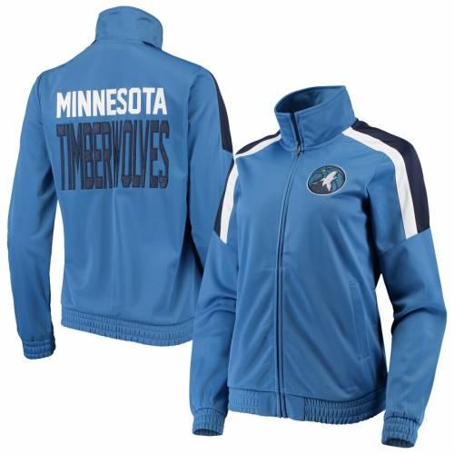 G-III 4HER BY CARL BANKS ミネソタ ティンバーウルブズ レディース トラック 青 ブルー 【 Minnesota Timberwolves Womens Jump Shot Full-zip Track Jacket - Blue 】 Blue