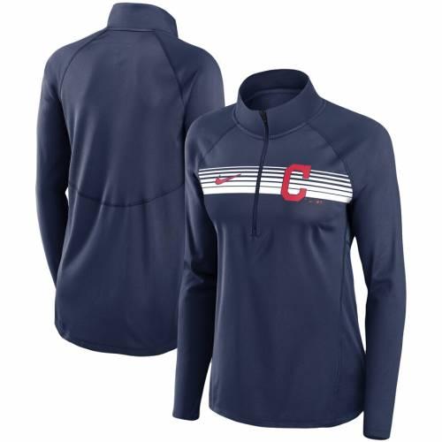 ナイキ NIKE クリーブランド インディアンズ レディース エレメント パフォーマンス 紺 ネイビー 【 Cleveland Indians Womens Seam-to-seam Element Half-zip Performance Pullover Jacket - Navy 】 Navy