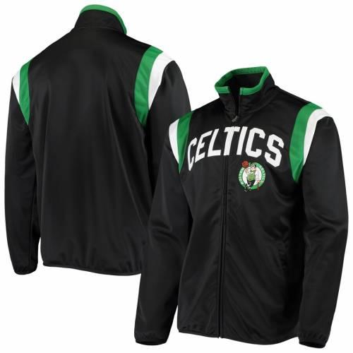 G-III SPORTS BY CARL BANKS ボストン セルティックス トラック 黒 ブラック メンズファッション コート ジャケット メンズ 【 Boston Celtics Post Up Tricot Full-zip Track Jacket - Black 】 Black