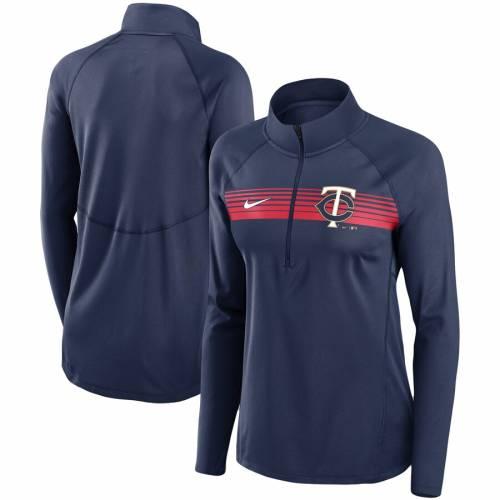 ナイキ NIKE ミネソタ ツインズ レディース エレメント パフォーマンス 紺 ネイビー 【 Minnesota Twins Womens Seam-to-seam Element Half-zip Performance Pullover Jacket - Navy 】 Navy