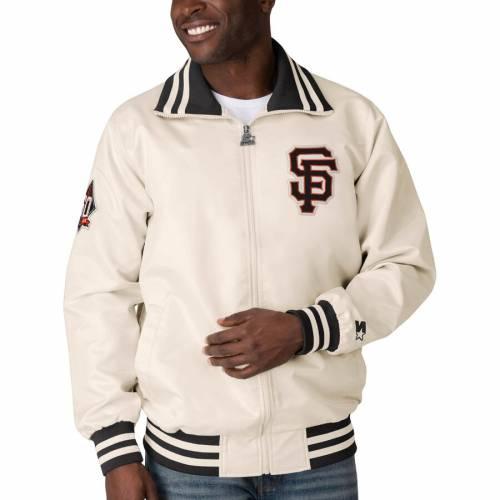 スターター STARTER ジャイアンツ クリーム メンズファッション コート ジャケット メンズ 【 San Francisco Giants The Captain Ii Full-zip Jacket - Cream 】 Cream