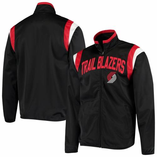 G-III SPORTS BY CARL BANKS ジースリー ポートランド トラック 黒 ブラック 【 BLACK GIII SPORTS BY CARL BANKS PORTLAND TRAIL BLAZERS POST UP TRICOT FULLZIP TRACK JACKET 】 メンズファッション コート ジャケット