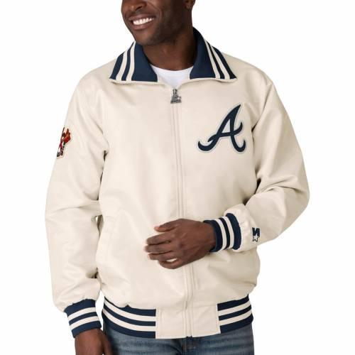 スターター STARTER アトランタ ブレーブス クリーム メンズファッション コート ジャケット メンズ 【 Atlanta Braves The Captain Ii Full-zip Jacket - Cream 】 Cream