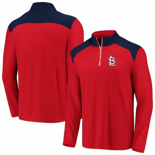 FANATICS BRANDED カーディナルス チーム スクリメージ St. メンズファッション コート ジャケット メンズ 【 St. Louis Cardinals Big And Tall Team Scrimmage Quarter-zip Pullover Jacket - Red/navy 】 Red/navy