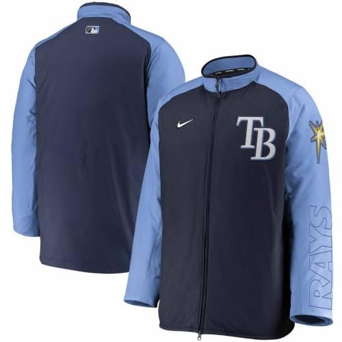 ナイキ NIKE レイズ オーセンティック コレクション 紺 ネイビー メンズファッション コート ジャケット メンズ 【 Tampa Bay Rays Authentic Collection Dugout Full-zip Jacket - Navy 】 Navy
