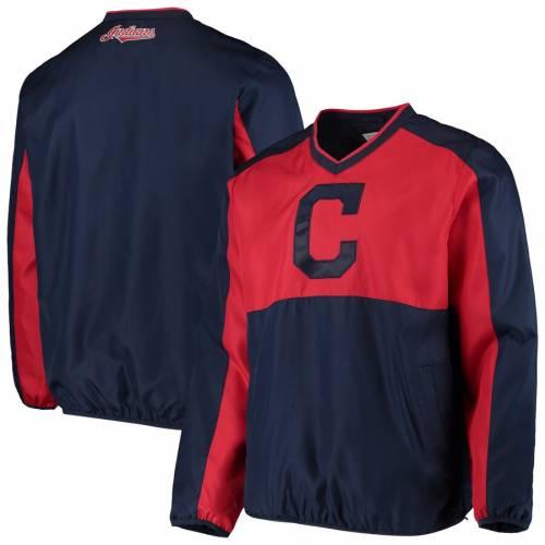 G-III SPORTS BY CARL BANKS クリーブランド インディアンズ ハイ ヒート ブイネック メンズファッション コート ジャケット メンズ 【 Cleveland Indians High Heat V-neck Pullover Jacket - Navy/red 】 Navy/red