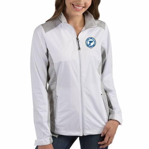 ANTIGUA レディース 灰色 グレー グレイ St. 【 St. Louis Blues Womens 2019 Stanley Cup Champions Revolve Full-zip Jacket - White/heather Gray 】 White/heather Gray