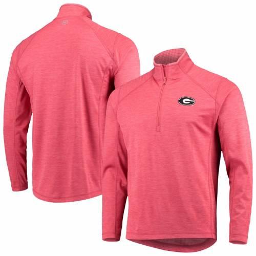 VINEYARD VINES 赤 レッド メンズファッション コート ジャケット メンズ 【 Georgia Bulldogs Sankaty Half-zip Pullover Jacket - Red 】 Red