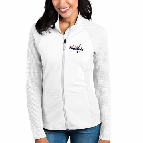 ANTIGUA ワシントン レディース 白 ホワイト 【 Washington Capitals Womens Sonar Full-zip Jacket - White 】 White