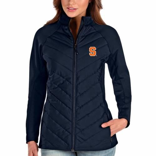 ANTIGUA シラキュース 橙 オレンジ レディース 紺 ネイビー 【 Syracuse Orange Womens Altitude Full-zip Puffer Jacket - Navy 】 Navy