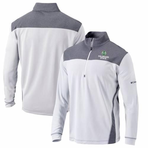コロンビア COLUMBIA コロラド スケートボード ラムズ スタンダード 白 ホワイト メンズファッション コート ジャケット メンズ 【 Colorado State Rams Omni-wick Standard Quarter-zip Pullover Jacket - White