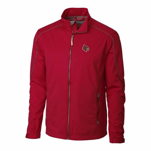 CUTTER & BUCK ルイビル カーディナルス 黒 ブラック メンズファッション コート ジャケット メンズ 【 Louisville Cardinals Cutter And Buck Big And Tall Weathertec Opening Day Full Zip Jacket - Black 】 Red