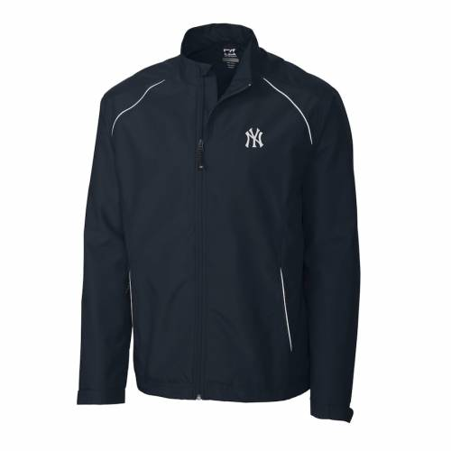 CUTTER & BUCK ヤンキース チャコール メンズファッション コート ジャケット メンズ 【 New York Yankees Cutter And Buck Big And Tall Weathertec Beacon Full Zip Jacket - Charcoal 】 Navy