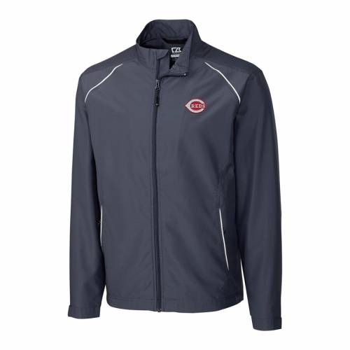 CUTTER & BUCK シンシナティ レッズ 黒 ブラック メンズファッション コート ジャケット メンズ 【 Cincinnati Reds Cutter And Buck Big And Tall Weathertec Beacon Full Zip Jacket - Black 】 Charcoal
