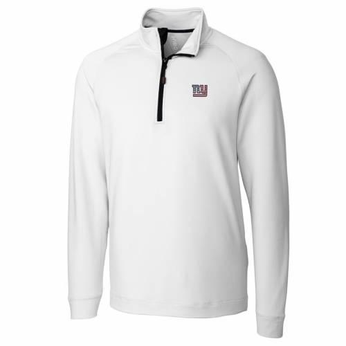 CUTTER & BUCK ジャイアンツ ニット 赤 レッド メンズファッション コート ジャケット メンズ 【 New York Giants Cutter And Buck Americana Jackson Knit Quarter-zip Pullover Jacket - Red 】 White