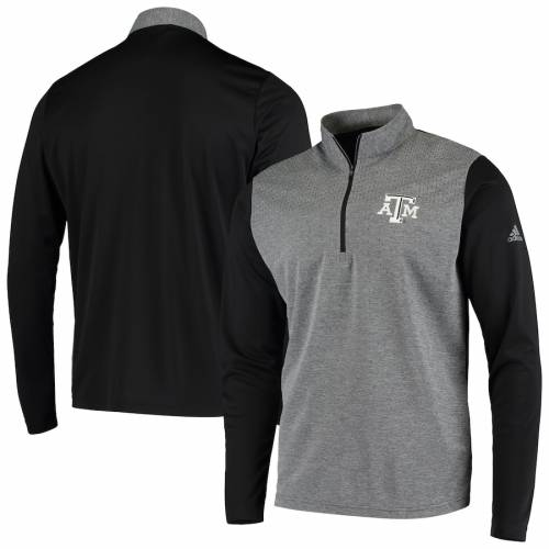 アディダス ADIDAS テキサス カレッジ 黒 ブラック メンズファッション コート ジャケット メンズ 【 Texas Aandm Aggies College Upf Quarter-zip Pullover Jacket - Black 】 Black