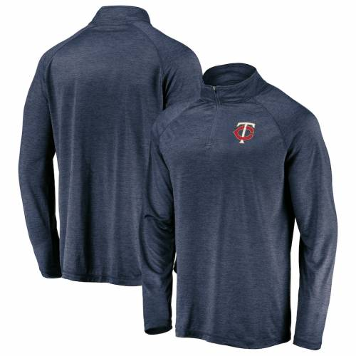 FANATICS BRANDED ミネソタ ツインズ ロゴ ラグラン 紺 ネイビー 【 RAGLAN NAVY FANATICS BRANDED MINNESOTA TWINS ICONIC STRIATED PRIMARY LOGO QUARTERZIP PULLOVER JACKET 】 メンズファッション コート ジャケット