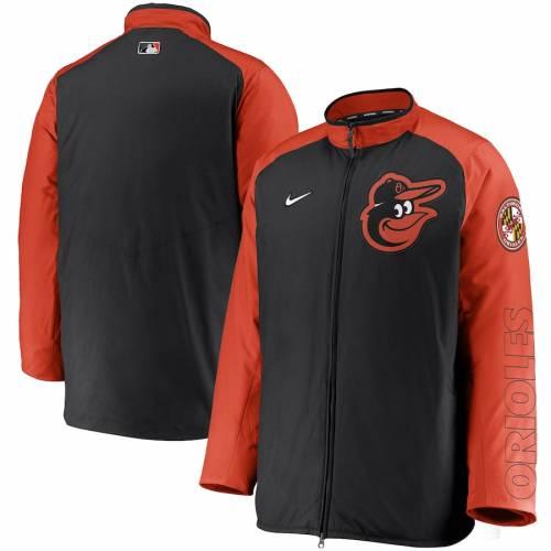 ナイキ NIKE ボルティモア オリオールズ オーセンティック コレクション 黒 ブラック メンズファッション コート ジャケット メンズ 【 Baltimore Orioles Authentic Collection Dugout Full-zip Jacket - Bl