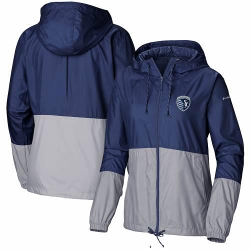 コロンビア COLUMBIA カンザス シティ レディース チーム ウィンドブレーカー 【 Sporting Kansas City Womens Flash Forward Team Windbreaker Jacket - Navy/gray 】 Navy/gray
