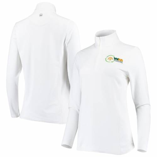 PETER MILLAR フェニックス レディース 白 ホワイト 【 Waste Management Phoenix Open Womens Perth Stretch Quarter-zip Pullover Jacket - White 】 White
