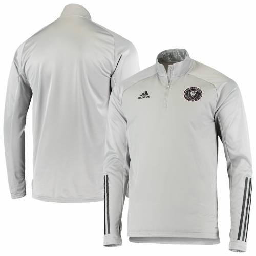 アディダス ADIDAS マイアミ ウォーム 灰色 グレー グレイ メンズファッション コート ジャケット メンズ 【 Inter Miami Cf Warm Aeroready Quarter-zip Pullover Jacket - Gray 】 Gray