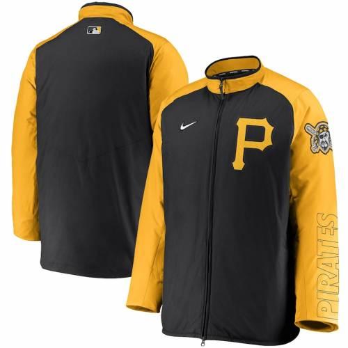 ナイキ NIKE ピッツバーグ 海賊団 オーセンティック コレクション 黒 ブラック メンズファッション コート ジャケット メンズ 【 Pittsburgh Pirates Authentic Collection Dugout Full-zip Jacket - Black 】