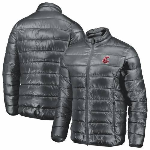 FANATICS BRANDED ワシントン スケートボード 灰色 グレー グレイ メンズファッション コート ジャケット メンズ 【 Washington State Cougars Puffer Full-zip Jacket - Gray 】 Gray