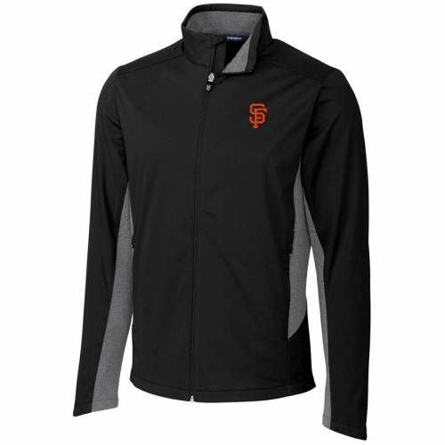 CUTTER & BUCK ジャイアンツ 黒 ブラック メンズファッション コート ジャケット メンズ 【 San Francisco Giants Cutter And Buck Navigate Weathertec Full-zip Jacket - Black 】 Black
