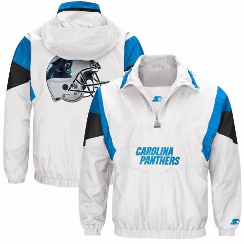 スターター STARTER カロライナ パンサーズ ナイト 白 ホワイト メンズファッション コート ジャケット メンズ 【 Carolina Panthers Thursday Night Lights Breakaway Jacket - White 】 White