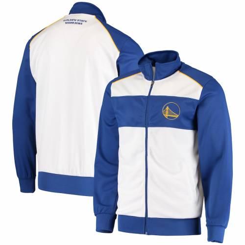 G-III SPORTS BY CARL BANKS スケートボード ウォリアーズ レイアップ トラック メンズファッション コート ジャケット メンズ 【 Golden State Warriors Layup Full-zip Track Jacket - White/royal 】 White/royal