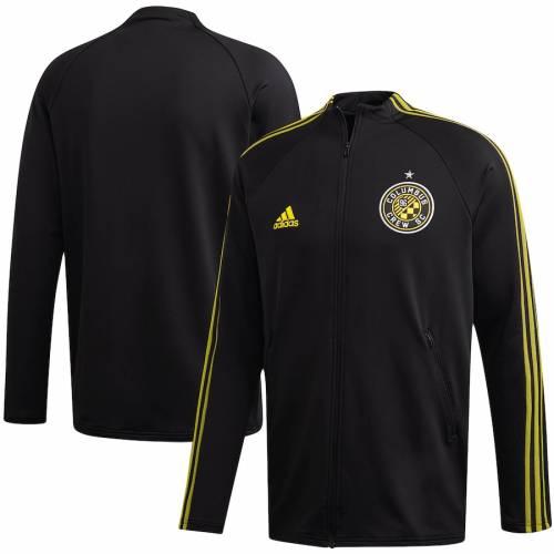 アディダス ADIDAS 黒 ブラック メンズファッション コート ジャケット メンズ 【 Columbus Crew Sc 2020 On-field Anthem Full-zip Jacket - Black 】 Black