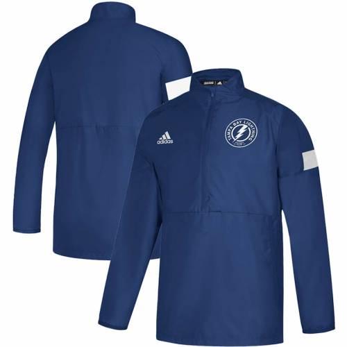 アディダス ADIDAS ゲーム 青 ブルー メンズファッション コート ジャケット メンズ 【 Tampa Bay Lightning Game Mode Quarter-zip Pullover Jacket - Blue 】 Blue