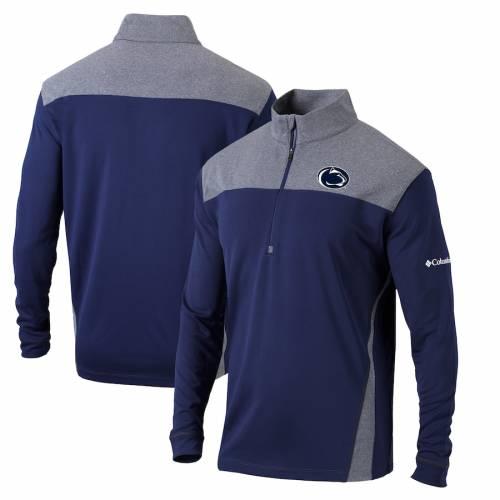 コロンビア COLUMBIA スケートボード ライオンズ スタンダード 紺 ネイビー メンズファッション コート ジャケット メンズ 【 Penn State Nittany Lions Omni-wick Standard Quarter-zip Pullover Jacket - Navy