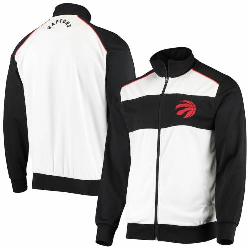 G-III SPORTS BY CARL BANKS トロント ラプターズ レイアップ トラック メンズファッション コート ジャケット メンズ 【 Toronto Raptors Layup Full-zip Track Jacket - White/black 】 White/black