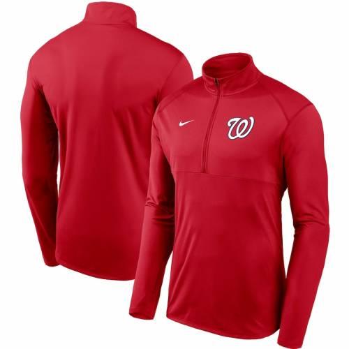 ナイキ NIKE ワシントン ナショナルズ チーム ロゴ エレメント パフォーマンス 赤 レッド メンズファッション コート ジャケット メンズ 【 Washington Nationals Team Logo Element Performance Half-zip P