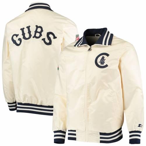 スターター STARTER シカゴ カブス クリーム メンズファッション コート ジャケット メンズ 【 Chicago Cubs The Captain Ii Full-zip Jacket - Cream 】 Cream