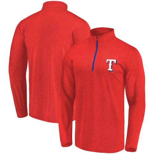 FANATICS BRANDED テキサス レンジャーズ 赤 レッド メンズファッション コート ジャケット メンズ 【 Texas Rangers Overtime Buzzer Quarter-zip Pullover Jacket - Red 】 Red
