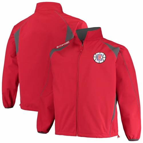 PROFILE クリッパーズ メンズファッション コート ジャケット メンズ 【 La Clippers Big And Tall Bonded Full-zip Jacket - Red/charcoal 】 Red/charcoal